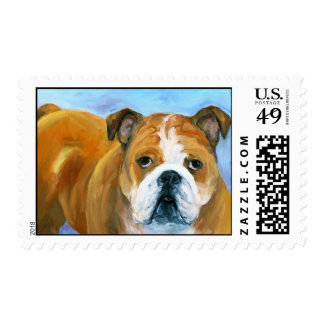 Bulldog a friend for life postage