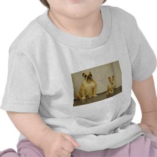 Bulldog and Friend (Sepia) T-shirt