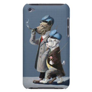 Bulldog and Great Dane - Anthropomorphic Dogs iPod Touch Case