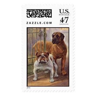Bulldog and Mastiff Vintage Postage
