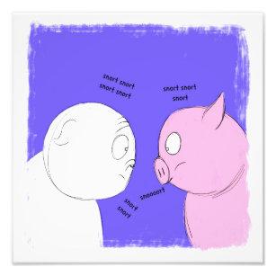 Bulldog and Pig Photo Print