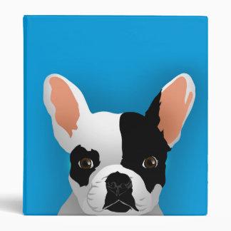 Bulldog art - french bulldog 3 ring binder