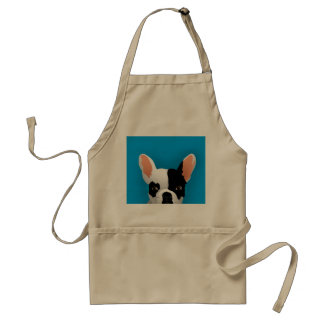 Bulldog art - french bulldog adult apron