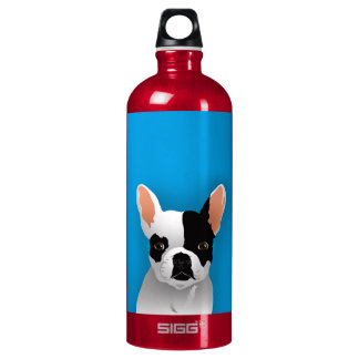 Bulldog art - french bulldog aluminum water bottle