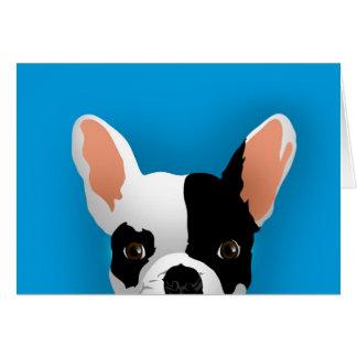 Bulldog art - french bulldog card