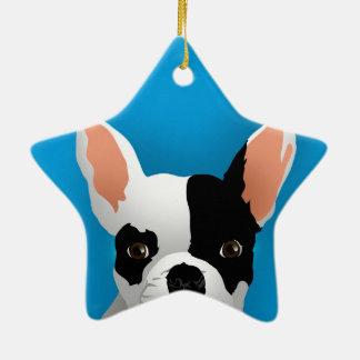 Bulldog art - french bulldog ceramic ornament