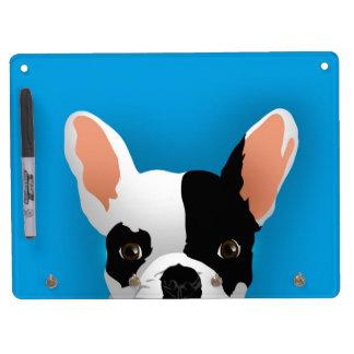 Bulldog art - french bulldog dry erase board with keychain holder