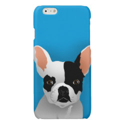 Case Savvy iPhone 6 Glossy Finish Case with Bulldog Phone Cases design