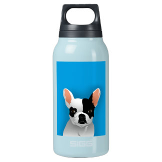 Bulldog art - french bulldog insulated water bottle