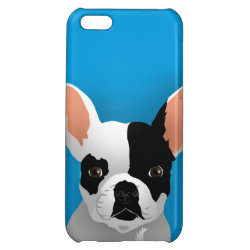 Case Savvy Matte Finish iPhone 5C Case with Bulldog Phone Cases design