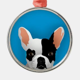 Bulldog art - french bulldog metal ornament