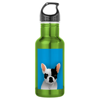 Bulldog art - french bulldog stainless steel water bottle