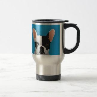 Bulldog art - french bulldog travel mug