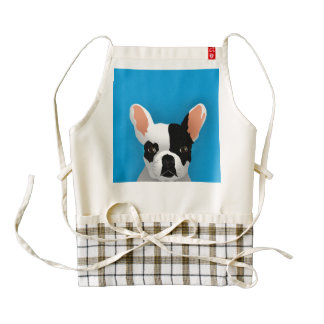 Bulldog art - french bulldog zazzle HEART apron