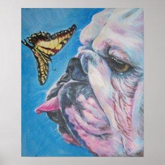 Bulldog art print print
