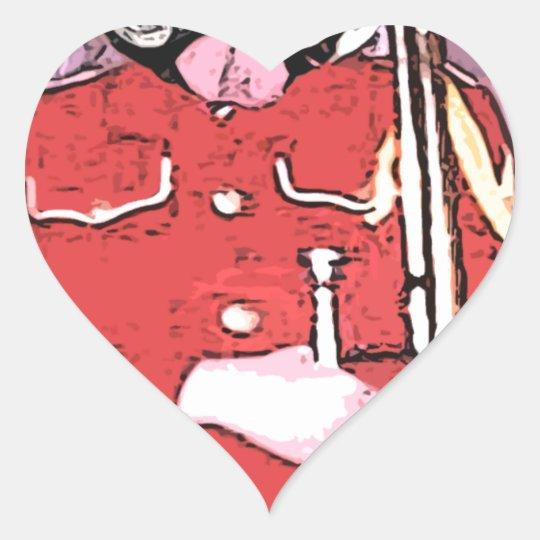 Bulldog band camp heart sticker