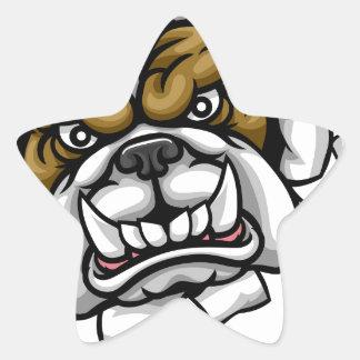 Bulldog Basketball Sports Mascot Star Sticker