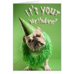 bulldog birthday card