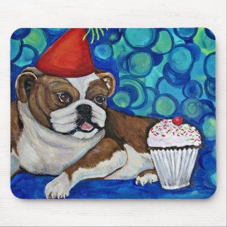 Bulldog Birthday Wish Mouse Pad