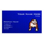 Bulldog; Blue Business Cards