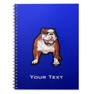 Bulldog; Blue Spiral Note Books