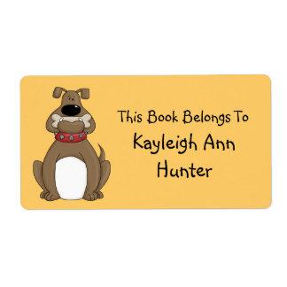 Bulldog Bookplate Label Shipping Label