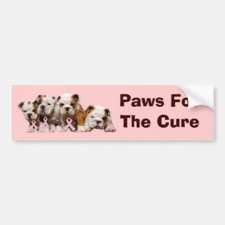 Bulldog Breast Cancer Bumper Sticker