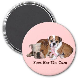 Bulldog Breast Cancer Magnet