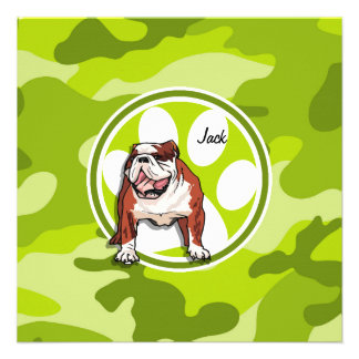 Bulldog; bright green camo, camouflage custom announcements
