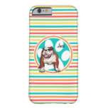 Bulldog; Bright Rainbow Stripes Barely There iPhone 6 Case