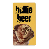 Bulldog Bullie Beer Homebrew Bull Dog Custom Label