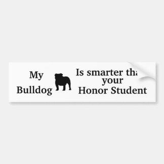Bulldog Bumper Sticker Car Bumper Sticker