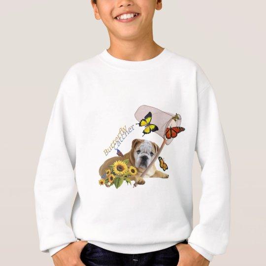 Bulldog Butterfly Catcher.png Sweatshirt