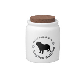Bulldog Candy Jar