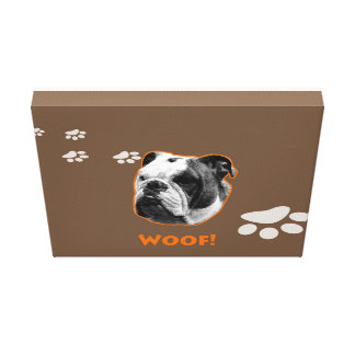 Bulldog Canvas Woof