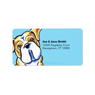 Bulldog Carribean Address Label