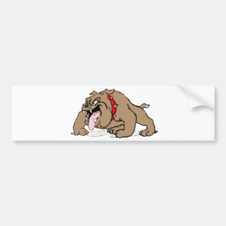 Bulldog Cartoon Art Bumper Sticker