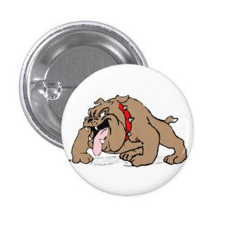 Bulldog Cartoon Art Button