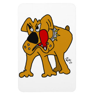 bulldog cartoon on magnet
