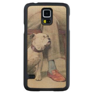 Bulldog Carved® Maple Galaxy S5 Slim Case