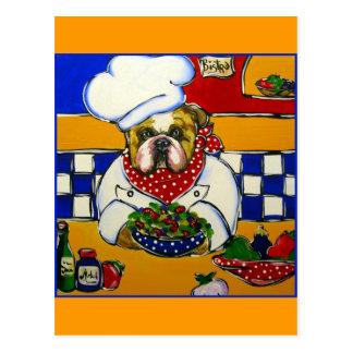 Bulldog Chef Postcard