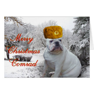 Bulldog Christmas 3 Card