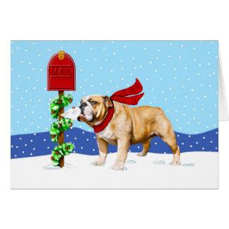 Bulldog Christmas Holiday Mail Greeting Cards