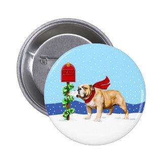 Bulldog Christmas Holiday Mail Pins