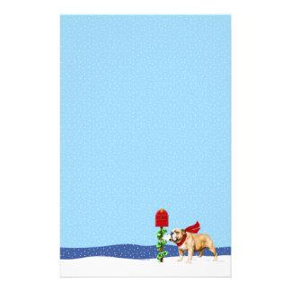 Bulldog Christmas Holiday Mail Stationery