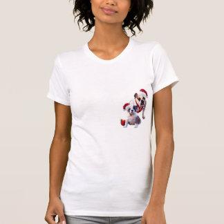 Bulldog Christmas Nightshirt T-shirts
