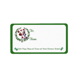 Bulldog Christmas Wishes Gift Tag Stickers