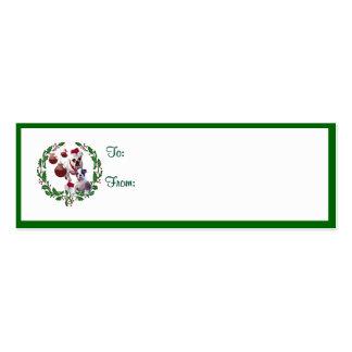 Bulldog Christmas Wishes Gift Tags Mini Business Card