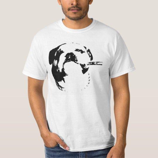Bulldog Cigar Stencil T T-Shirt