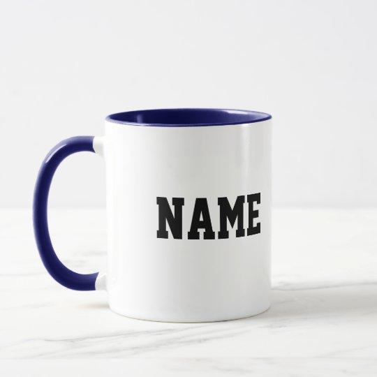 Bulldog Circle with Personalized Name Mug